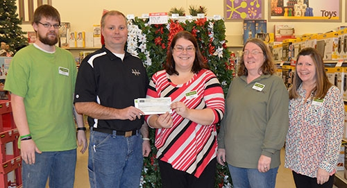 The Shopko Foundation has made a donation of $1,000 to the Waukon Park, Recreation and Wellness Department Tennis Court Project. Pictured above at...