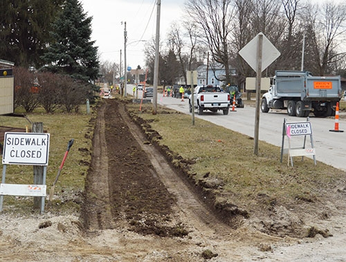 Work continues on the 2019 Department of Transportation (DOT) Street Project in Waukon with sidewalk removal and replacement on Allamakee Street (...