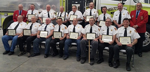 At the monthly meeting of the Waukon Area Fire Protection District held Monday, November12, 17 local firemen were recognized for their years of...