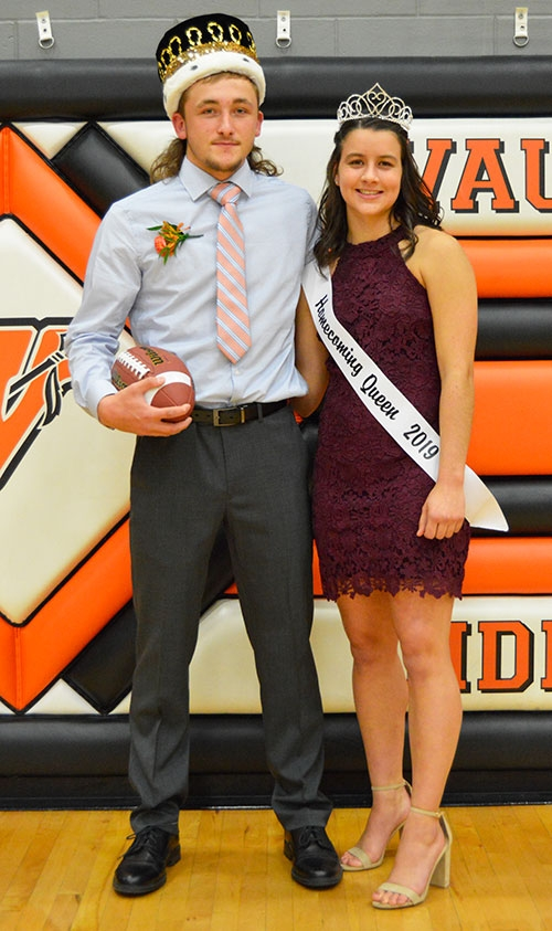 Waukon High School seniors Brock Hatlan (left) and Hailey Regan (right) were crowned Waukon High School's 2019 Homecoming King and Queen at the...