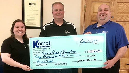 Kerndt Brothers Bank in Waukon has announced a financial commitment of $5,000 toward the City of Waukon's new community tennis courts. The bank...