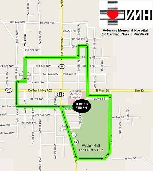 VMHs Get Your Walk On In Waukon Route Remains Available To Public - Map your walking route