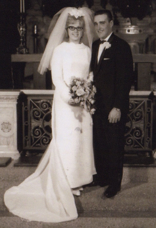Then and now, Jim and Connie Mettille
