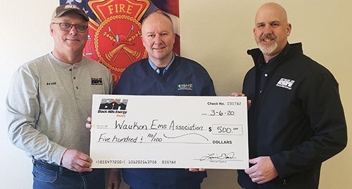 Black Hills Energy recently presented a check to the Waukon Emergency Medical Services (EMS) Association to support the purchase of a new...