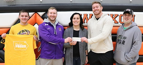 """Waukon High School 2014 graduates Parker Hesse and Marcus Weymiller provided a """"full circle"""" moment when they recently made the decision..."""